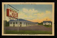 Hightstown , New Jersey NJ Vintage linen postcard Hightstown Motel Curt Teich