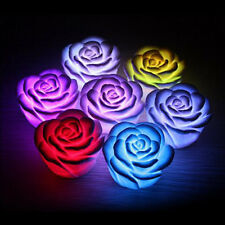 Romantic 7 Color Changing Rose Flower Candle LED Night Light Lamp Decoration