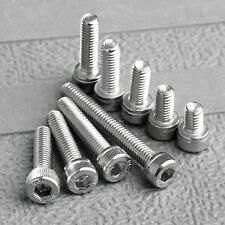 50Pcs M4 Srews 6/8/10/12/14/16/20/30mm 304 Stainles Steel Hex Hexagon Screw Bolt