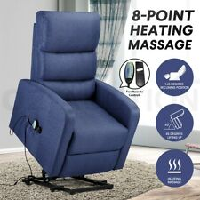 Recliner Chair Electric Massage Chair Lift Armchair Heated Lounge Sofa Fabric
