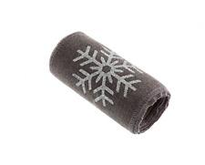 12cm Christmas Snowflake Print Hessian Trim Roll 2m Silver