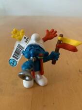 Smurfs 20530 Fan Smurf Soccer Team Rare Vintage Figure PVC Sports Toy Figurine