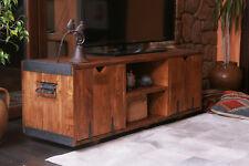 Lowboard Tv Table Hifi Wardrobe Rustic Unique Solid Wood Vintage Brown 120