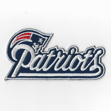 New England Patriots Word Iron on Patches Embroidered Patch Navy Blue Emblem FN