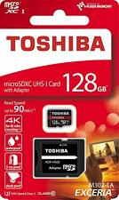 Toshiba 128GB Micro SD SDXC Exceria M302 90MB/sec Class 10 Card With SD Adapter