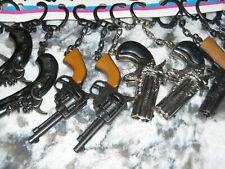 Lot of 12 Die Cast Key Chain Pistol Gun Keychain Mini  NEW