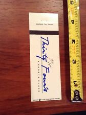 Walter Payton Restaurant Matchbook Cover Chicago Bears Football Thirty Four's