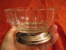 "Glass and Silver Bowl Dish 4-1/2"" top dia x 3-1/2"" bottom dia x 2-3/4"" high"