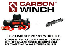 Carbon Electric winch with 12K 12000lb with RANGER PX PX2 WINCH CRADLE IN BUMPER