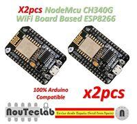 2pcs NodeMcu Lua CH340G Wireless Module WIFI Development Board ESP8266 ESP-12E