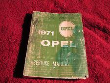 1971 Opel Factory Service Manual