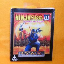 1993 Atari Lynx Handheld Ninja Gaiden III The Ancient Ship of Doom Game
