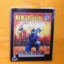 1993 ATARI LYNX Handheld Ninja Gaiden III The Ancient Ship of Doom jeu Scellé