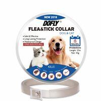 DOFLY Flea Tick Collar For Dogs & Cats, Hypoallergenic, Waterproof, 6 Month NIB!
