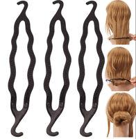 2Pcs Women Hair Twist Styling Clip Stick Bun Maker Braid Tool Hair Accessories