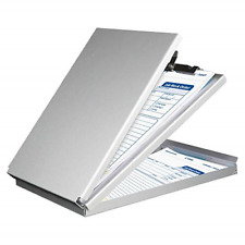 Sunnyclip Aluminum Clipboard with Storage Memo Size, Recycled Metal Form Holder
