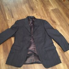 """Mans Suit Jacket. 40"""". Firado Designed. Brown With Pinstripe. Fab. Lined."""