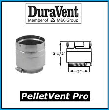 """DURAVENT PELLETVENT PRO Pipe 3"""" Diameter Appliance Adapter #3PVP-ADS NEW!"""