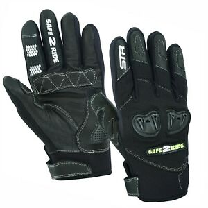 Motorcycle Gloves, Leather Motorbike Gloves Thermal Winter Summer Touch Screen