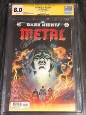Dark Nights: Metal 4 Capullo/Glapion Cover CGC 8.0 Signed Greg Capullo 2nd Print