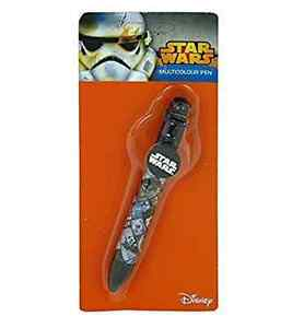 Starwars multi coloured pen 6 colours in this pen fully licensed Disney product.