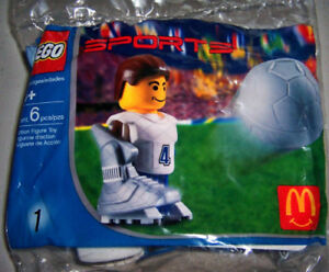 2004 McDonalds Happy Meal: LEGO SPORTS #1: SOCCER PLAYER - New, Sealed!