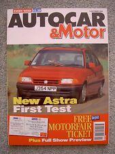 Autocar (9 Oct 1991) Renault Clio 16v, Cord 810, Astra GLS, Frontera, Chaparral