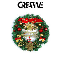 Christmas Decorated Door Wreath - Xmas Wall Hanging Christmas Decoration
