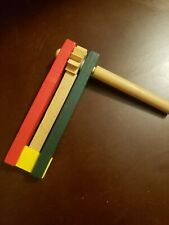 Hand Made Hand Painted Wooden Ratchet Noise Maker New Year's is Coming