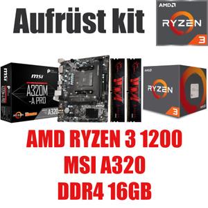 AMD 🆁🆈🆉🅴🅽 3 1200 ● MSI A320 Mainboard ● 16GB RAM ● Ryzen PC Bundle Kit