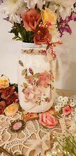 Floral Chic Jar. Vase. Gift.