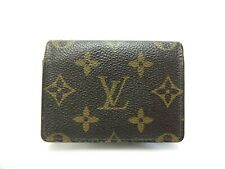Authentic LOUIS VUITTON Monogram Card Case Carte De Visite M62920 Brown
