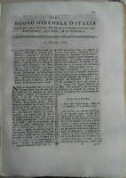 """1780 """"NUOVO GIORNALE D'ITALIA"""" DISENTERIA IN FRANCIA AGRICOLTURA MAURITIUS ....."""