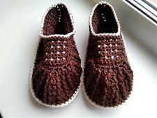 Handmade Crochet knitted women's Home slippers