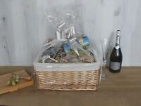Luxury Wicker Hamper Basket Make Your Own DIY Christmas Gift Lining Ribbon Bow