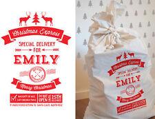 "Bright Star Kids Large Personalised Santa Sack Gift Bag - ""Christmas Express"""