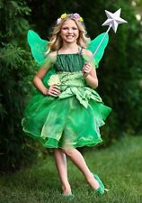 Girls Garden Fairy Green Dress Costume Size M XL (with defect)