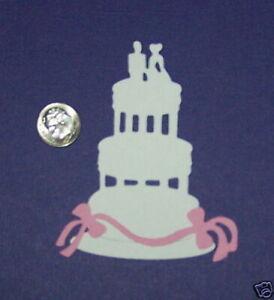 3 Wedding Cakes PAPER Die Cuts / Scrapbook & Card Making