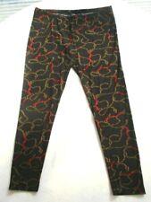 Trend Leggings 46 44 L Schwarz Rot Gold fein.Viskose Jersey + Elasthan Dehnbund!