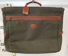 Longchamp Brown Boxford Canvas Leather Trim Garment Bag Suitcase Luggage Travel