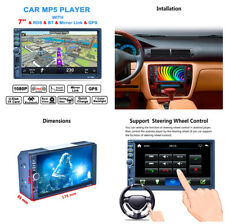 "7"" auto touch screen lettore MP5 Bluetooth AM RDS Radio Navigazione GPS CARICA"