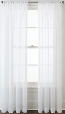 "NEW MarthaWindow Sheer Voile Rod Pocket Panel Cool White 60"" x 84"""
