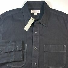 NWT Men's Wallace And Barnes J Crew Black Denim Button Down Medium