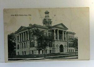 C. 1906 Green Bay Wisconsin City Hall Undivided Back Vintage Postcard