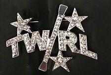"BATON TWIRLING PIN TWIRL PIN BATON STARS 1.5"" x 2"" PIN TO BACKPACK, CASE STRAP"