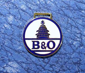 B & O Railroad Train Logo Watch Fob