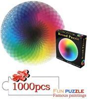 Puzzle 1000 Stück Buntes Regenbogen-rundes pädagogisches Puzzle-Spielzeug für Er