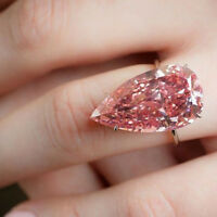 Fashion Women Rings Rose Gold Plated Pink Sapphire Wedding Ring Sz 6-10 Jewelry