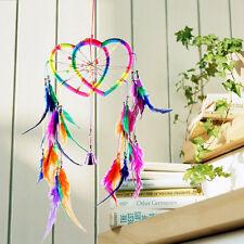 Traumfänger Herz Feder Einheimische Indianer Stil Kinder Erwachsene