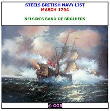 STEELS BRITISH NAVY LIST MARCH 1794 CD ROM